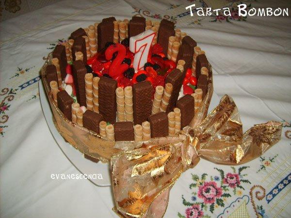 tarta bombon de cumpleaños