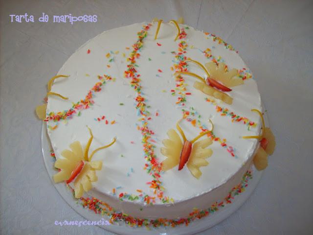 tarta de mariposas