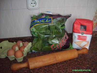 ingredientes lasaña de espinacas
