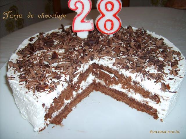 tarta chocolate con velas