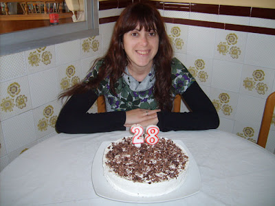 mi hermana susi con su tarta