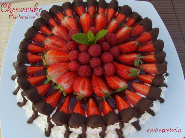 Espectacular cheesecake centerpiece