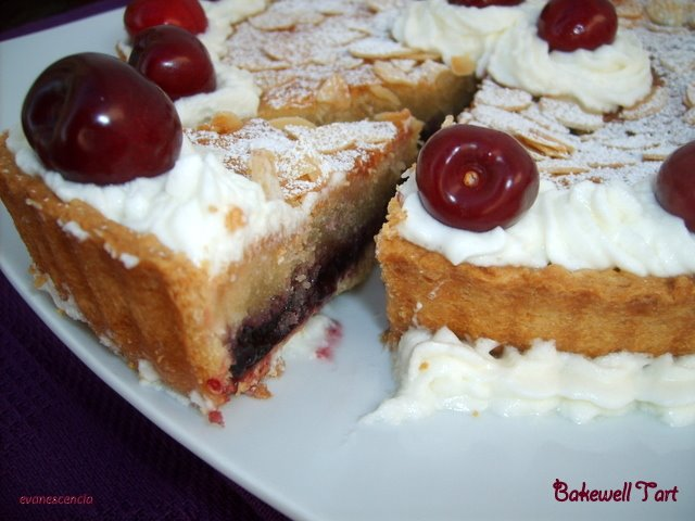 corte tarta bakewell