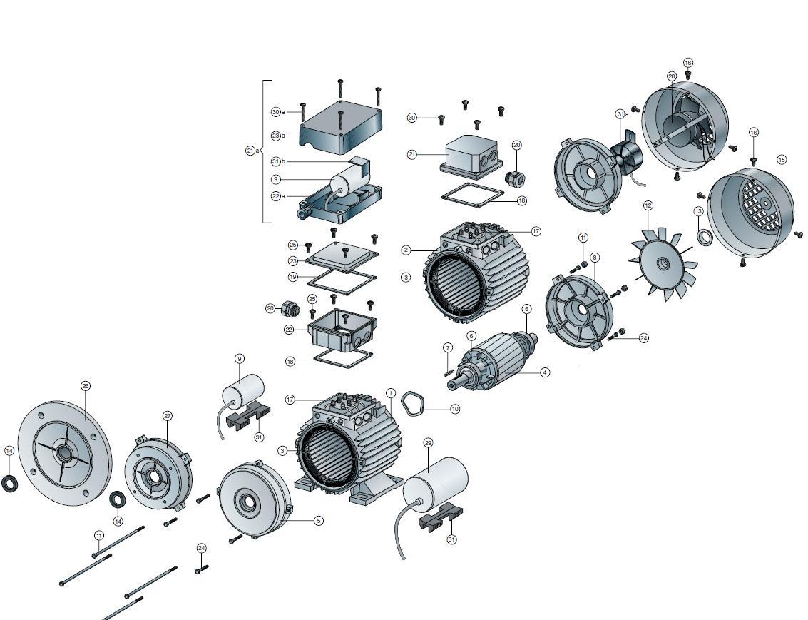 Schema Elettrico Motore Monofase : Disegno esploso motore elettrico monofase yahoo answers