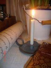 Min första vinst i Bloglandia ♥ - en söt liten ljusstake