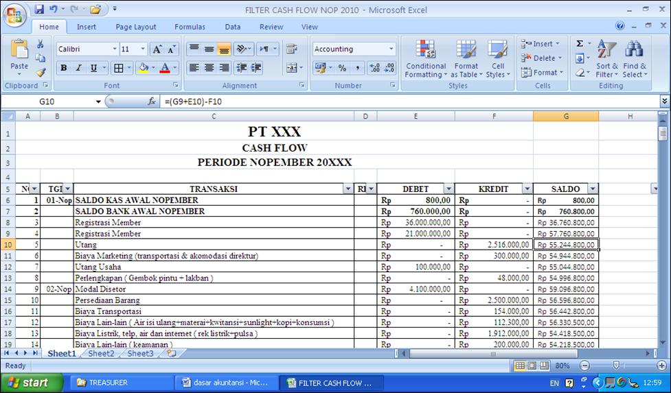 Laporan Arus Kas ( Cash Flow )