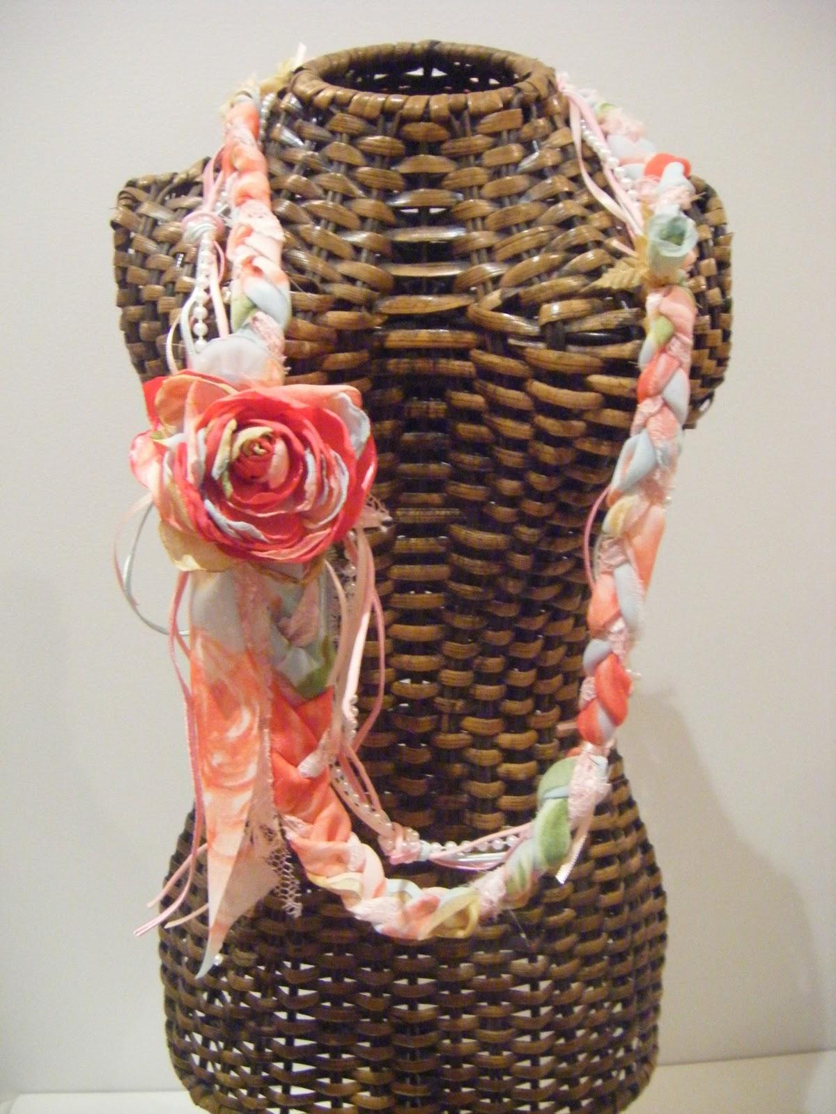 Bolsa De Tecido Com Perola : Niky woman arte com romantismo colar em renda flor