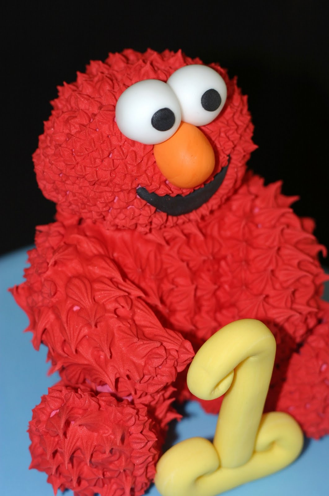 My Pink Little Cake 1st Birthday Party Elmo Cake