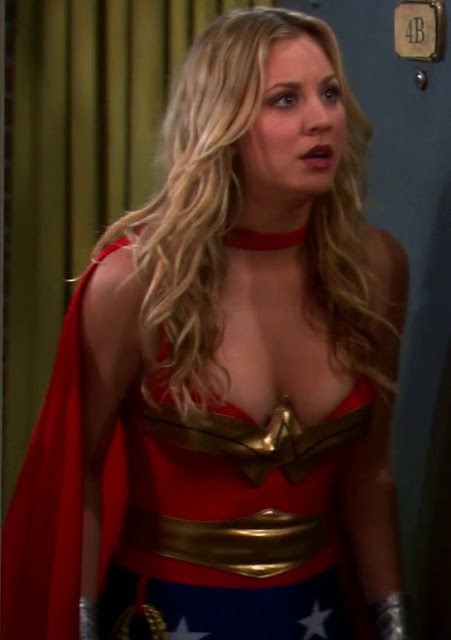 Kaley Cuoco's Wonder Woman Super Sexy Cleavage!
