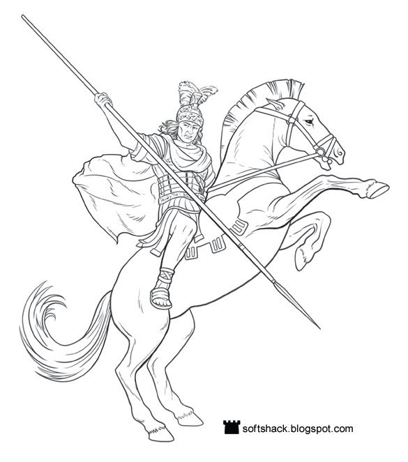 alexander the great coloring pages - photo#6