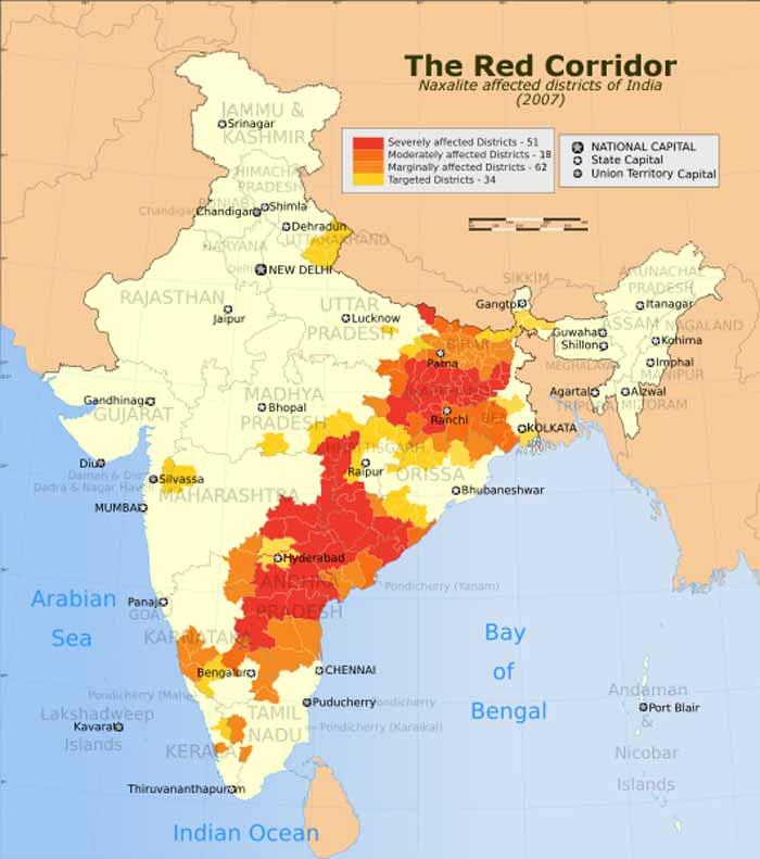 Guerra Popular Prolongada en la India. The_Red_Corridor