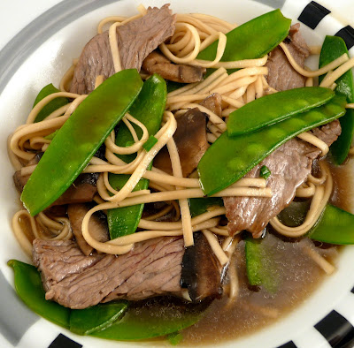 Crabby Cook: Ginger Udon Noodles with Mushrooms, Snow Peas ...