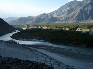 The valley outside Gilget in Pakistan