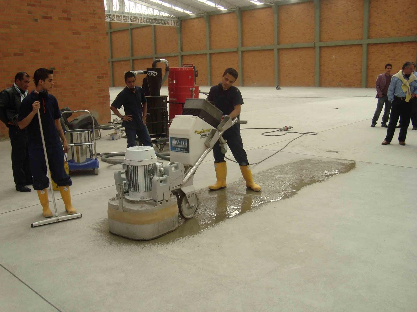 Tratamientos de superficies sistema de concreto pulido cps - Como limpiar piso de cemento pulido ...