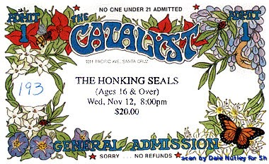 11121997  The Honking Seals play the Catalyst - I AM FUEL YOU ARE  FRIENDS