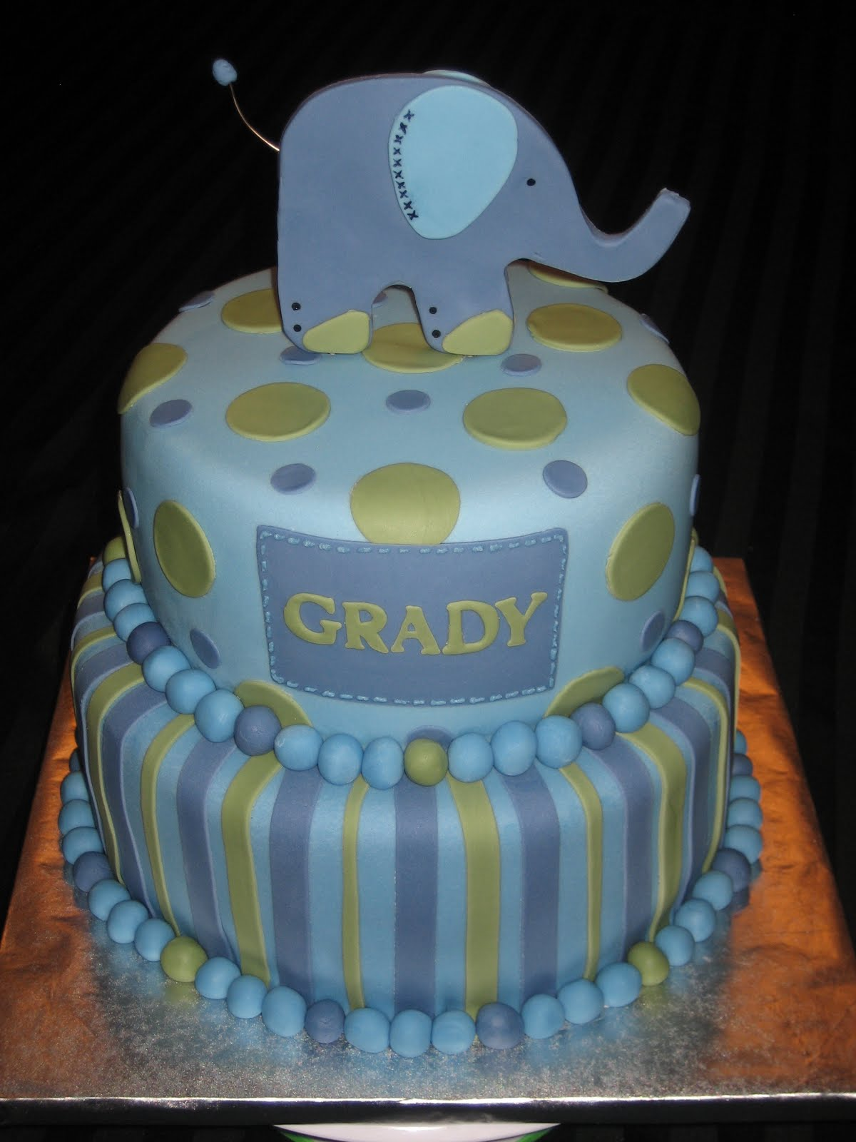 Cake Images For Boys : Baby Shower Cakes: Baby Boy Elephant Shower Cakes