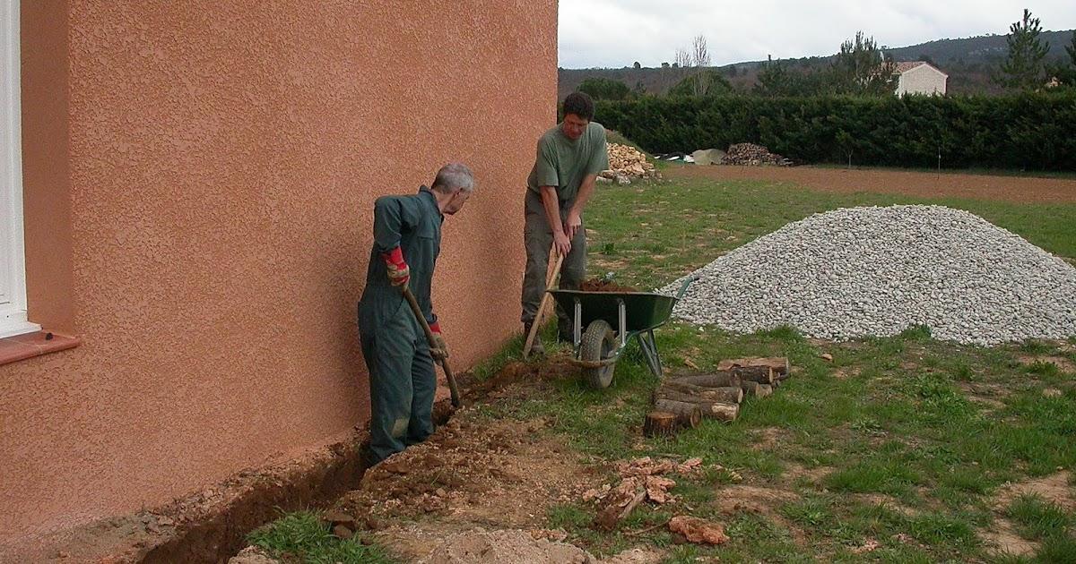 Charmant Notre Maison En Provence: Création De La Terrasse Et Du Drainage  Galerie De Photos