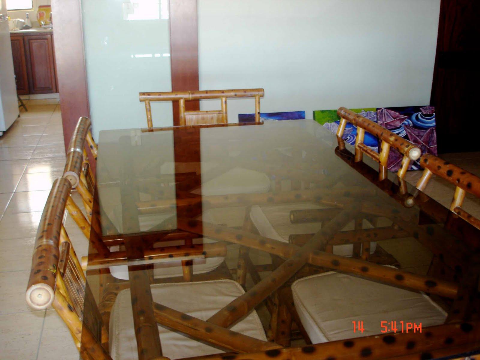 The pajon family comedor bamb 6 sillas - Sillas de bambu ...