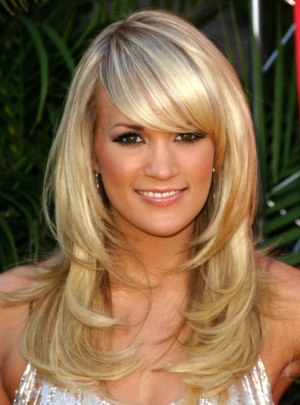 hair styles for fine hair pictures. long hair with bangs styles.