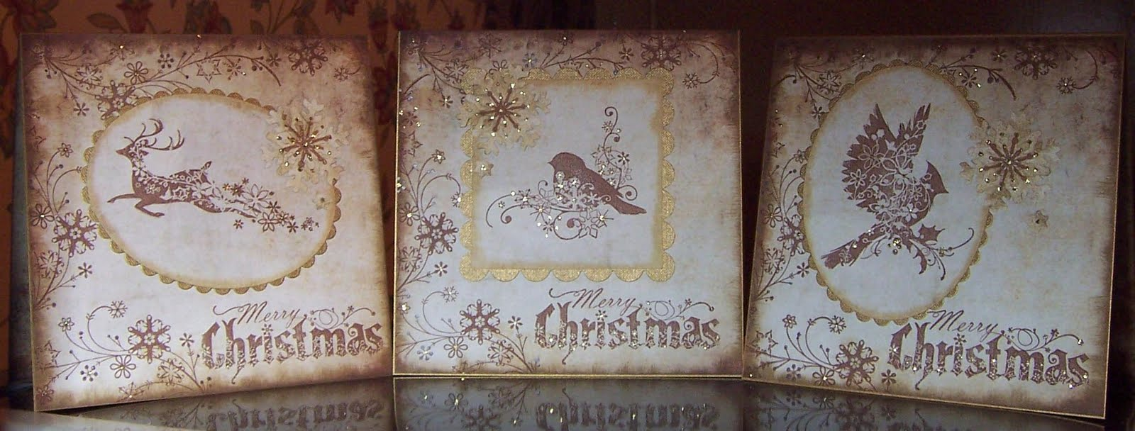 Whitch Craft: Vintage style Christmas cards