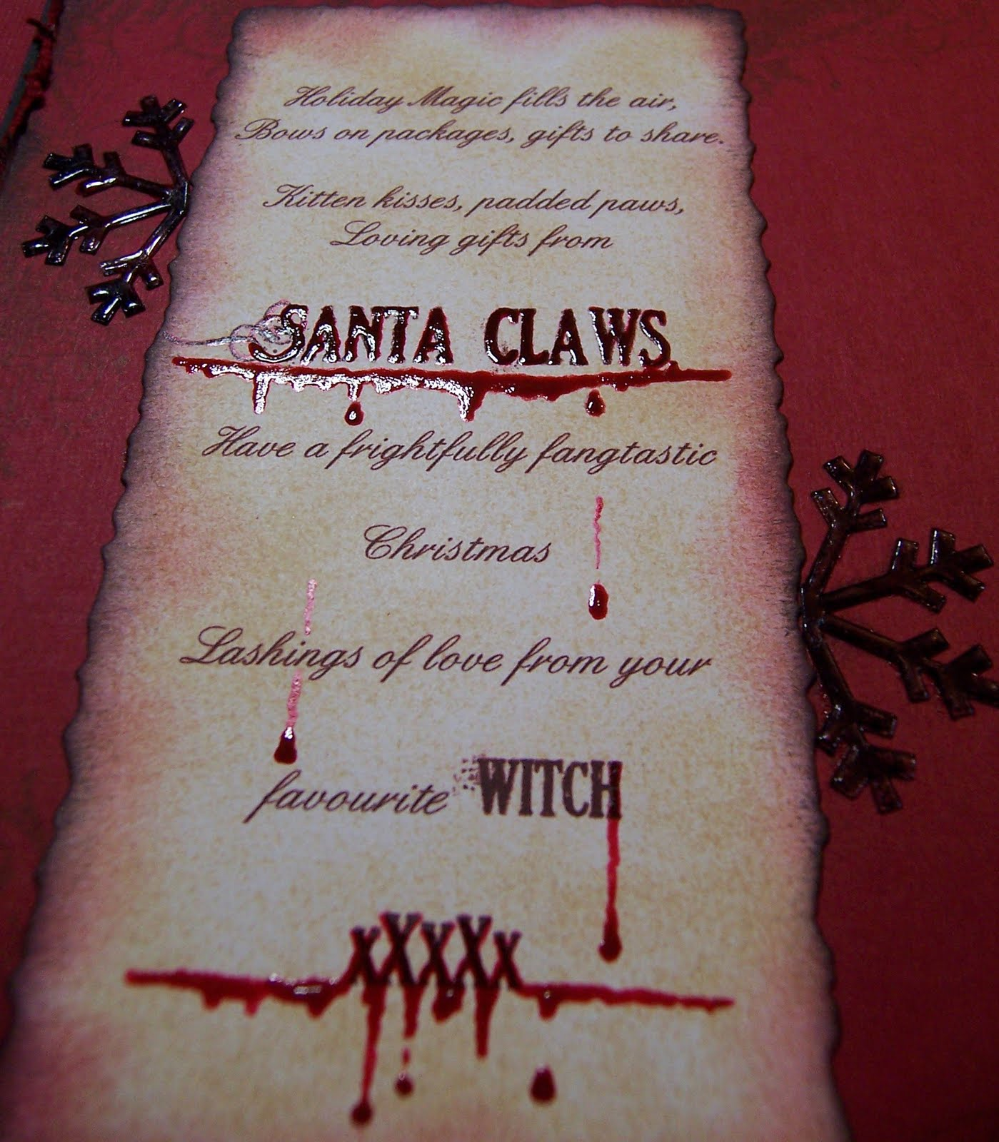the vampire santa is borrowed from vampire wars a game i play on facebook thank you for looking