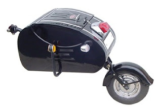 Inder motorcycle trailer.