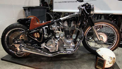 Royal Enfield chopper.