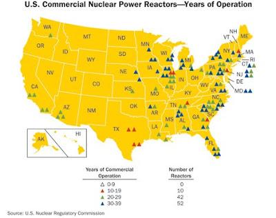 USA : 104 nuclear power reactors - Energie nucléaire aux Etats-Unis : 104 réacteurs nucléaires en service - Electricité nucléaire en Amérique - USA nuclear power : power plants - Terre Natale, le blog du Développement durable, par Thierry Follain, web rédacteur, 06 87 29 38 73