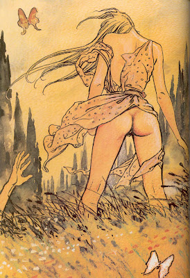 Milo Manara, femme au papillon - Blog with a View