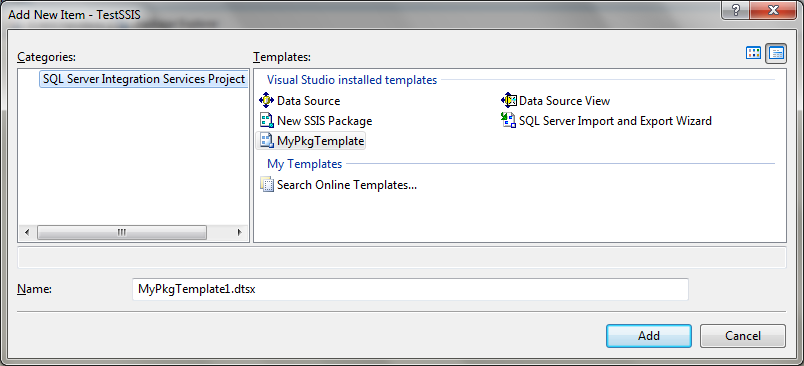 Tips and Tricks for SQL-BI: Creating SSIS Template Package