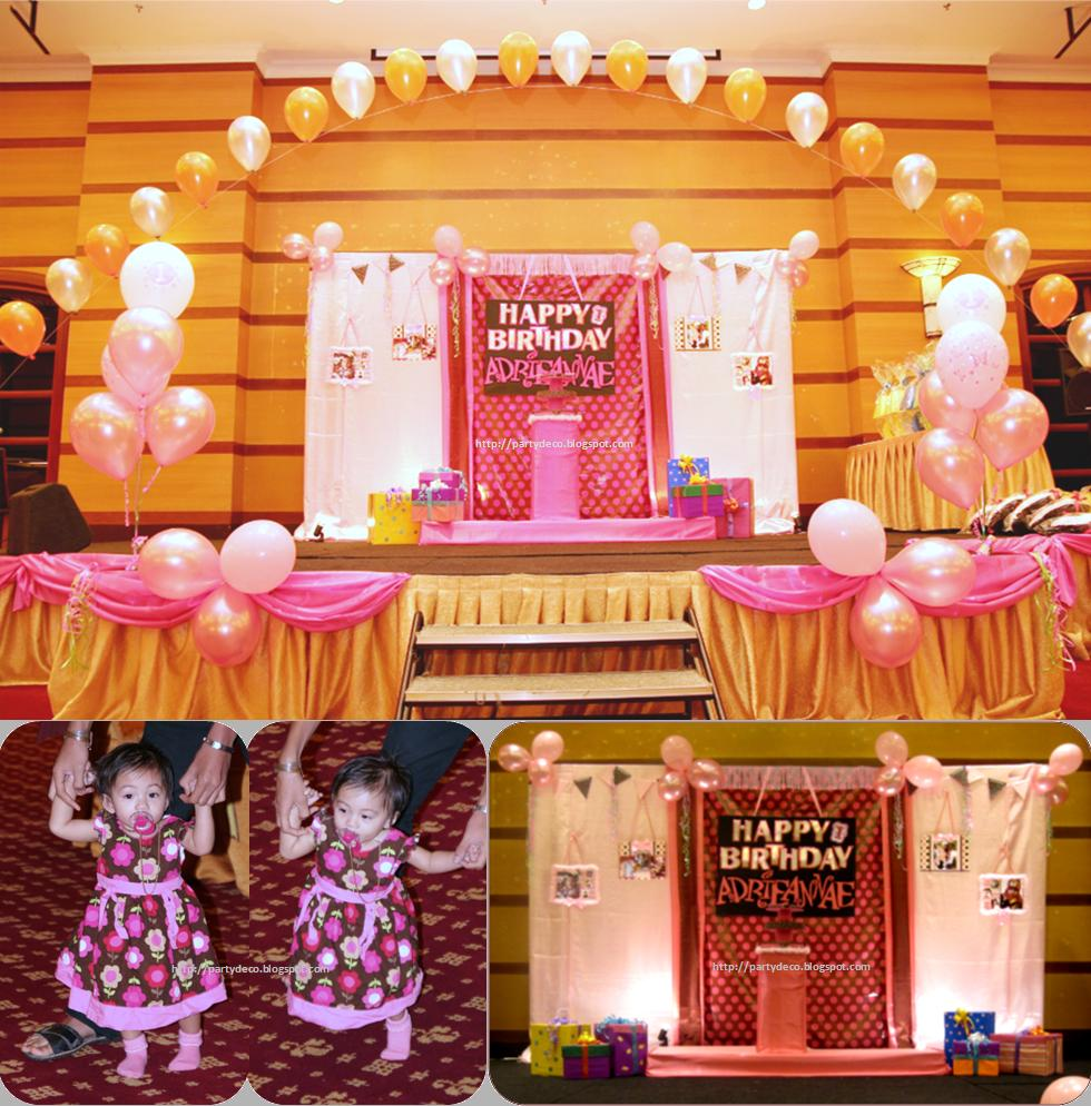 Party decoration birthday stage project the result for 1st birthday stage decoration