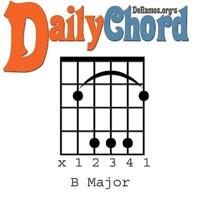 Chord du Jour: Lesson #31: Seven Chords in B (Guitar, Beginner)