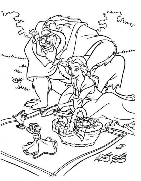 Imágenes de la Bella y la Bestia para colorear - Imagui