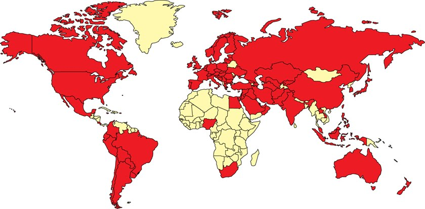 map of world countries. map of world countries