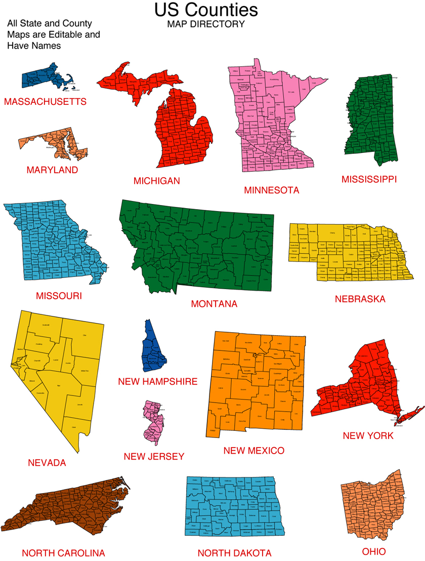 Maps For Design • Editable Clip Art PowerPoint Maps: US State and ...