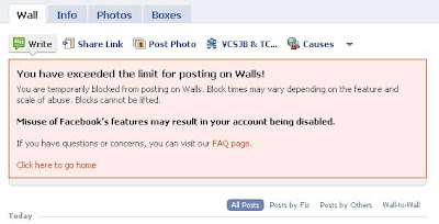Facebook Block Me From Posting!