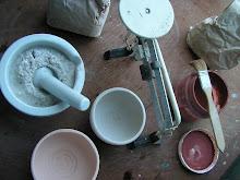 preparacion de engobes y esmaltes en el taller