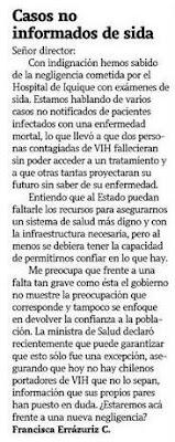 reacción ciudadana - Cartas La Tercera - Octubre 17, 2008