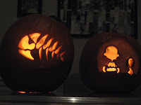 2007 snoopy and pirate fish pumpkins
