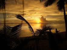 Solnedgång på Rarotonga