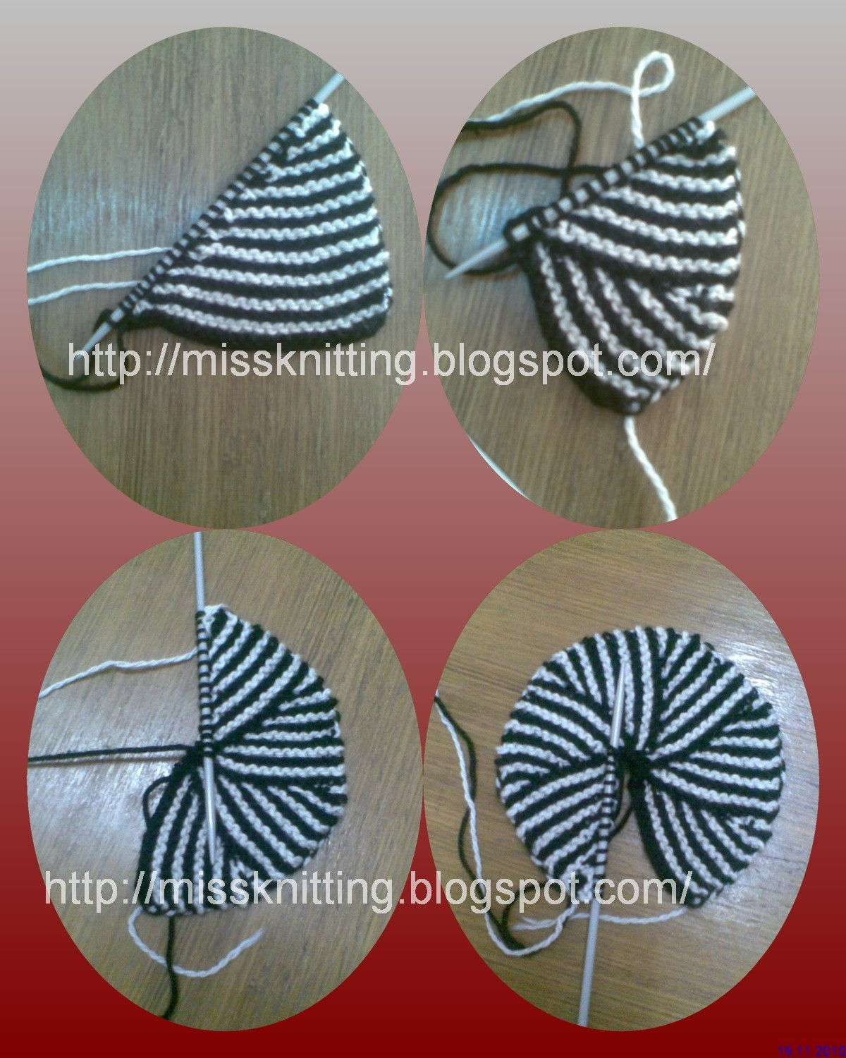 Modular Knitting Patterns Free : Miss Knitting: Pinwheel-Modular knit