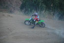 Juan con su Kawasaki.