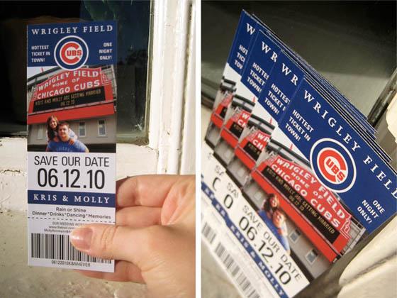 keg design save the date cubs ticket