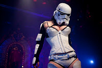 Storm trooper burlesque performed by Courtney Cruiz, photographed by Shannon Cottrell