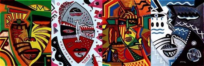 Série Máscaras africanas, de Ralph Siriani