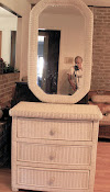 Wicker Dresser/Mirror