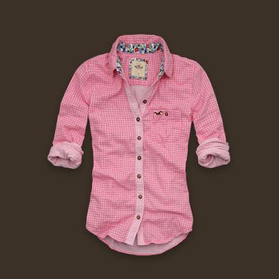 Camisa+Xadrez+Hollister Blusas Hollister Femininas: modelos, onde comprar