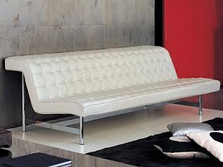 Modern White Paris Leather Sofa
