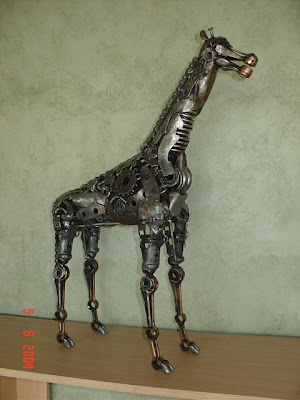 Sculptures Made From Machine Parts.