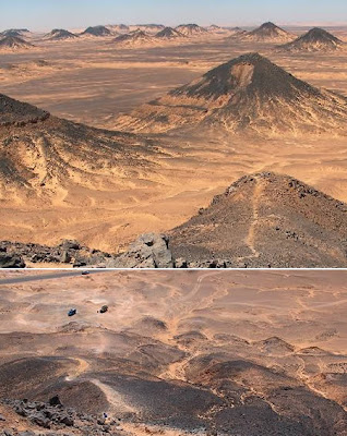 The Black Desert (Egypt): the desert with black stones